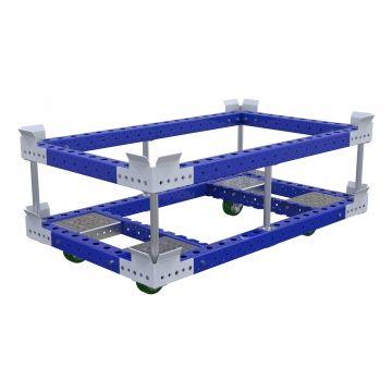 Carro de paleta w. Subestructura - 840 x 1400 mm