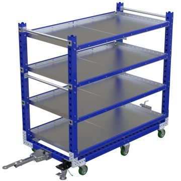 Flat Shelf Tugger Cart 70 x 36 inch