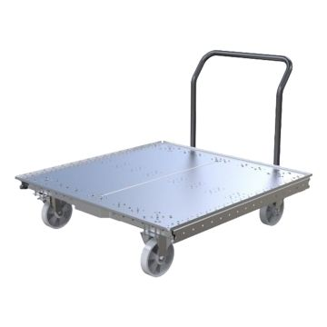 Pallet Cart with Removable Handle Bar 49 x 49 Inch