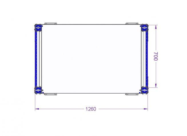 Flow Shelf Cart 770 x 1260 mm