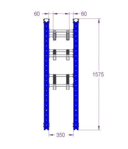 Roller Cart - 1120 x 490 mm