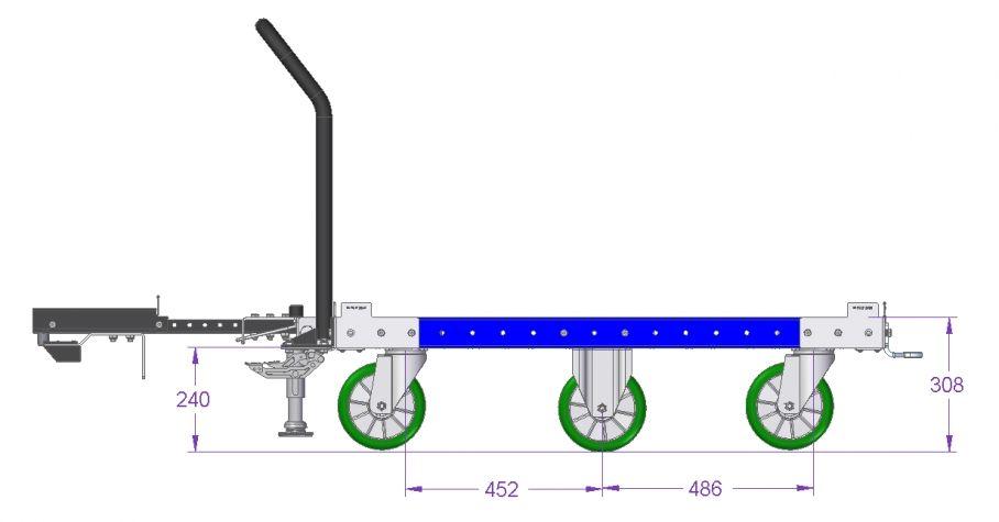 Tugger Cart - 45 x 48 inch