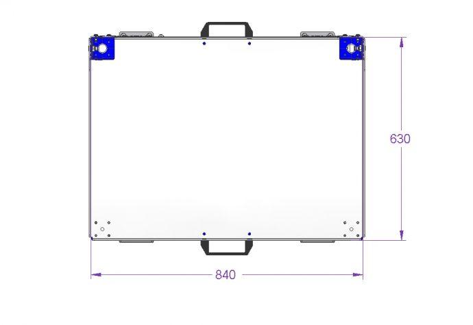 Flat Shelf Cart - 840 x 630 mm