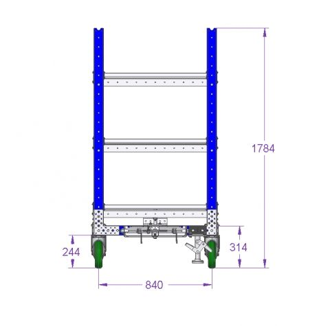 Flat Shelf Cart - 70 x 36 inch