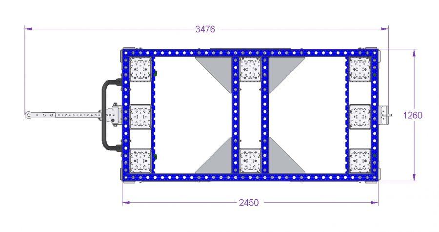 Pallet Cart - 2450 x 1260 mm