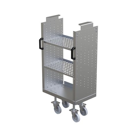 Small Cart with Shelves and Handles Daughter Cart