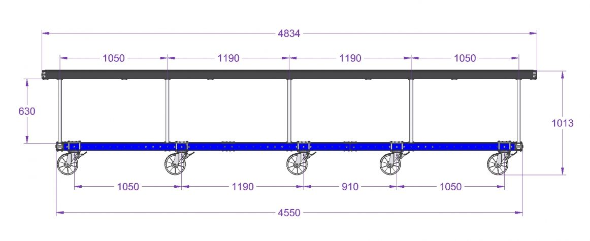 Work Bench - 1540 x 4830 mm