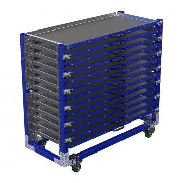 Extendable Shelf Cart – 770 x 1820 mm