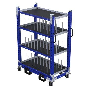 Daughter Shelf Cart w. Dividers - 700 x 1330 mm