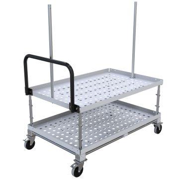 FlexTube Shelf Cart – 840 x 1330 mm