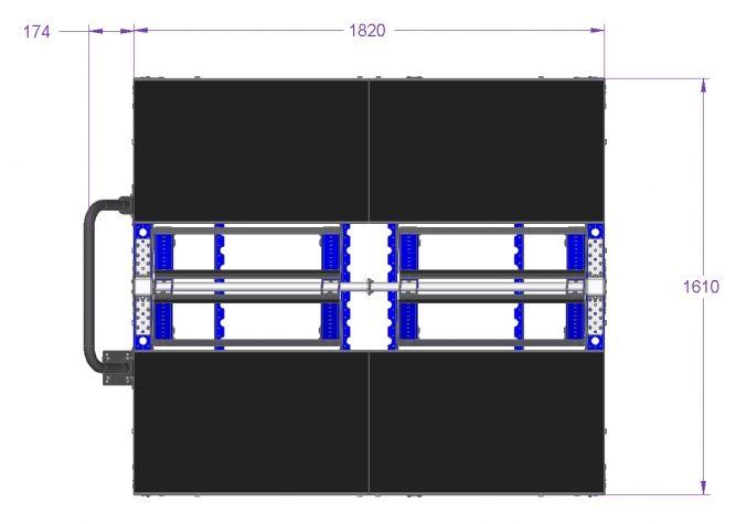 Windshield Cart Rear Window - 1820 x 1610 mm