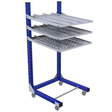 Flow Shelf Cart – 910 x 910 mm