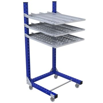 Flow Shelf Cart – 910 x 910 mm