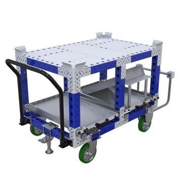 Carro de empuje para estantes - 840 x 1260 mm