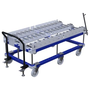 Roller cart specially designed to transport wooden and plastic pallets