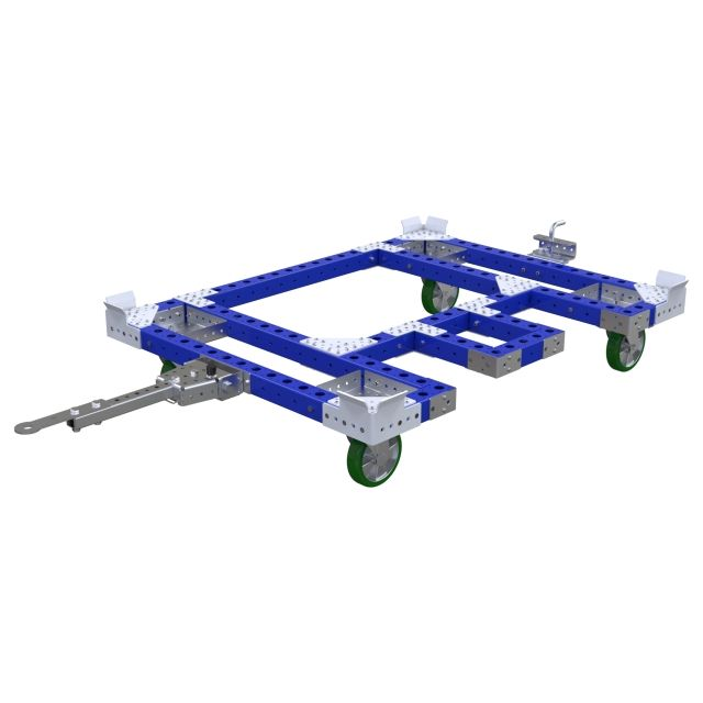 Pallet cart with picking area -1610 x 1260 mm