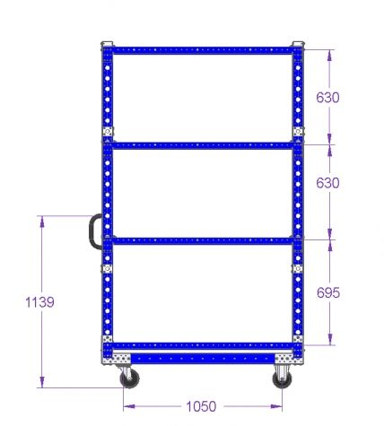 Flat Shelf Cart - 1330 x 840 mm