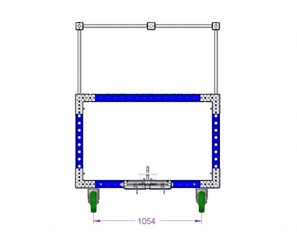 Tugger Cart W. Top Structure - 2030 x 1400 mm