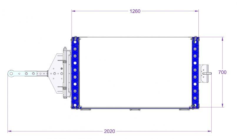 Flow Shelf Cart - 1260 x 700 mm