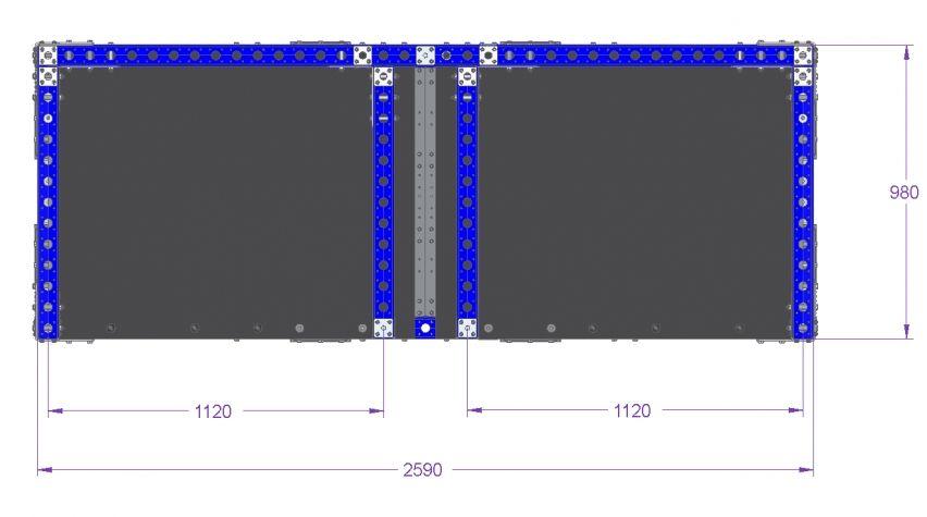 Batch Cart - 2590 x 980 mm