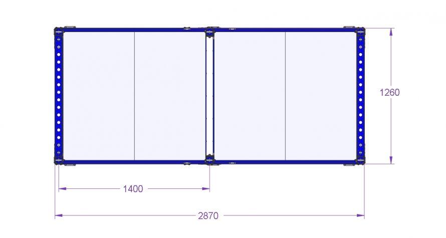 Shelf Cart - 2870 x 1260 mm