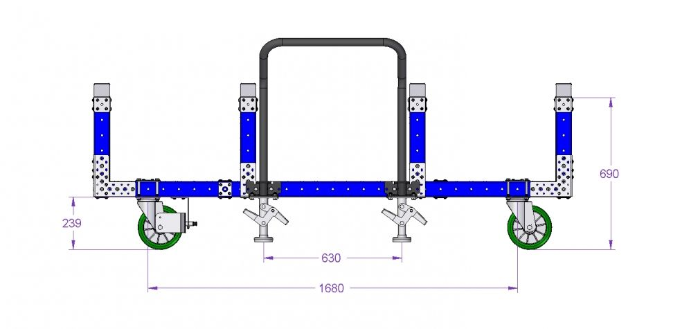 Transport Cart - 2170 x 980 mm