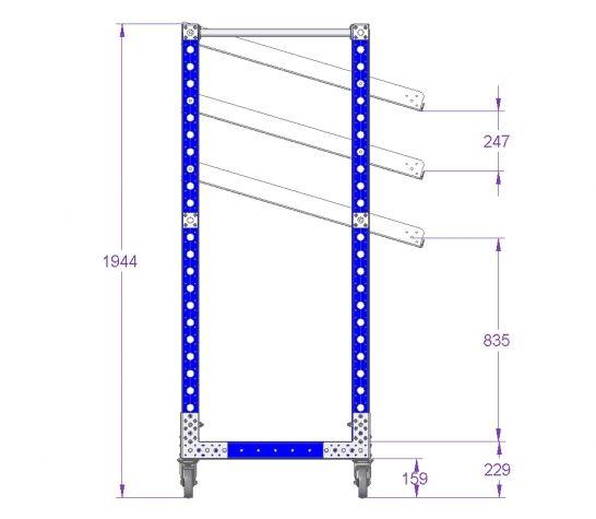Flow Shelf Cart - 1540 x 770 mm