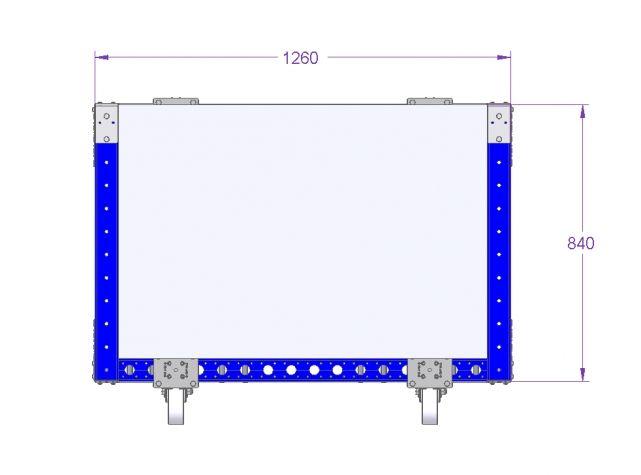 Compartment Cart - 1260 x 840 mm