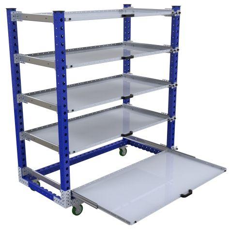Extendable Shelf Cart – 840 x 1750 mm