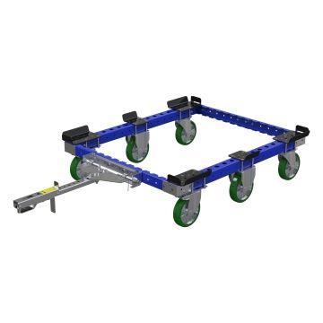 Carro de plataforma para tren remolcador 50 x 41 pulgadas