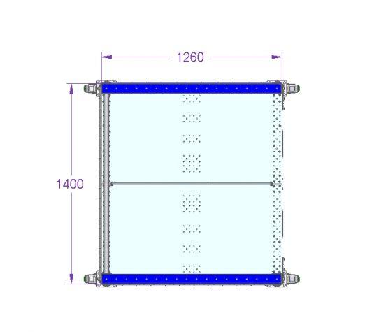 Pallet Rack - 55 x 50 inch