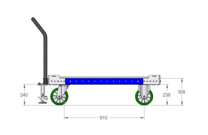 Pallet Trolley - 50 x 38 inch