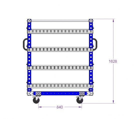 Removable Flow Shelf Cart - 1260 x 910 mm