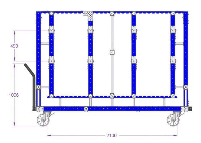 Hose Cart - 2450 x 910 mm
