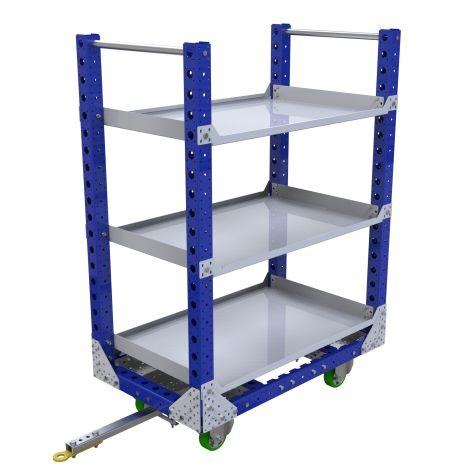 Quad Steer Shelf Cart - 1190 x 700 mm
