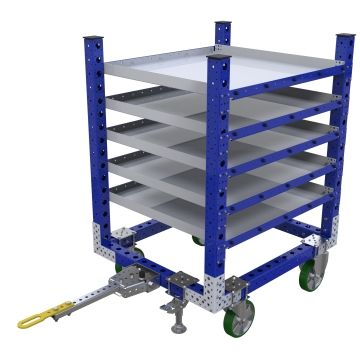 Flat Shelf Tugger Cart – 1050 x 910 mm