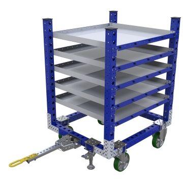 Carro remolcador de estante plano - 1050 x 910 mm