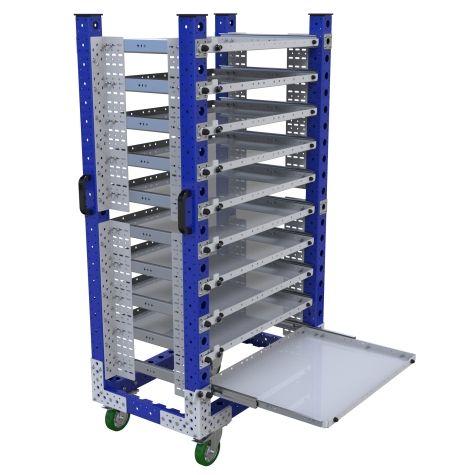 Extendable Shelf Cart – 560 x 910 mm