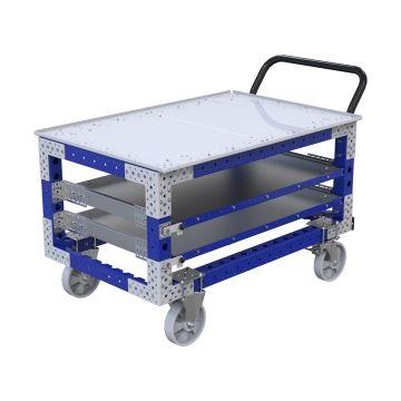 Extendable Shelf Cart - 770 x 1260 mm