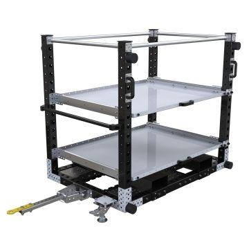 Extendable Shelf Tugger Cart – 1400 x 980 mm