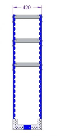 Flat Shelf Rack - 1260 x 420 mm