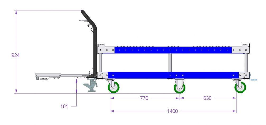 Tugger cart - 65 x 48 Inch