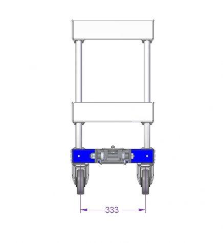 Flat Shelf Tugger Cart - 630 x 420 mm
