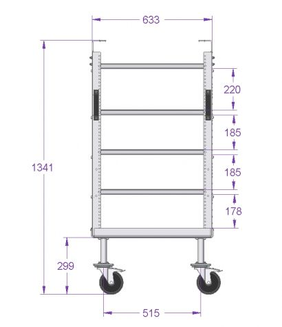 Daughter cart w. 4 shelves