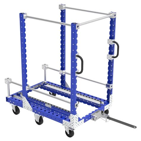 Tugger cart with rollers - 1260 x 840 mm