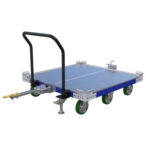 Flat Deck Pallet Tugger Cart - 1260 x 1260 mm