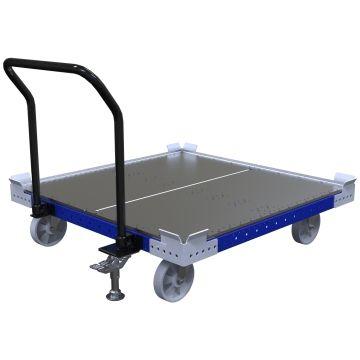 Flat Deck Pallet Push Cart - 1260 x 1260 mm