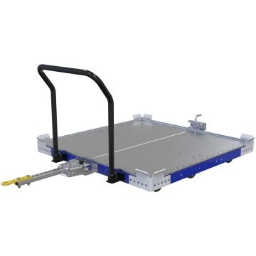 Low Rider Flat Deck Tugger Cart - 1260 x 1260 mm