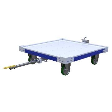 Flat Deck Pallet Tugger Cart Q.S - 1260 x 1260 mm