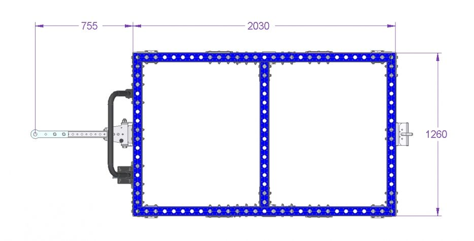 Tugger Cart - 2030 x 1260 mm